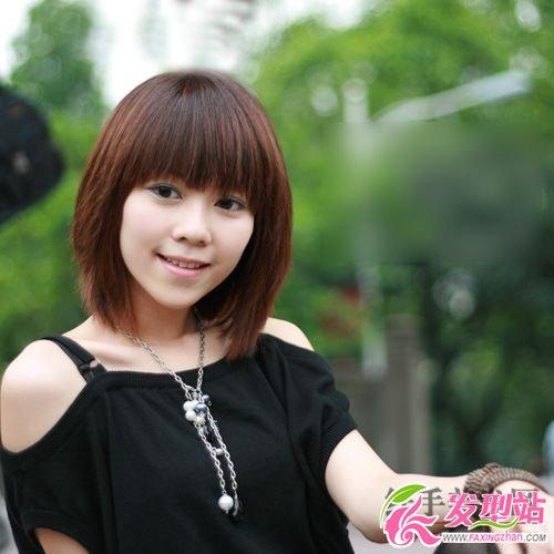 短发发型图片 可爱美女(5)