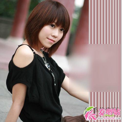 短发发型图片 可爱美女(3)