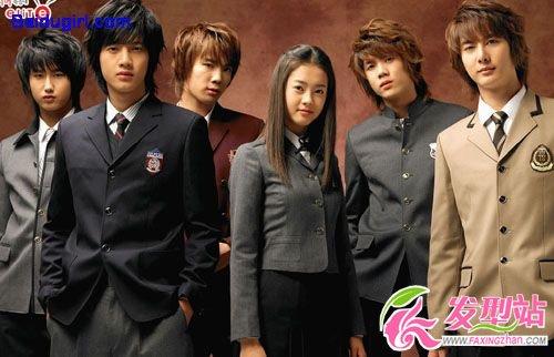 韩国男明星组合炫酷发型