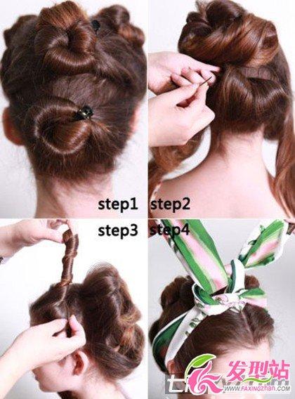 2012年冬季长头发的流行扎发 扎法图解让你双手掌握时尚图片