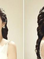 韩式马尾辫新娘发型设计 夏日清爽浪漫首选图片
