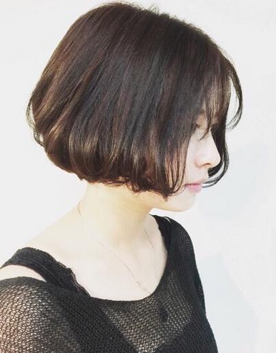 瘦短发波波头 适合圆脸女生的修颜短发烫卷发-发型 .图片