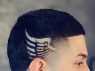 男生雕花发型设计大全 花纹雕刻莫西干发型图片图片