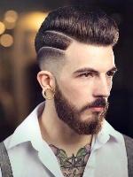 两边推的大背头_【图】莫西干发型_两边铲短发_背头_寸头_2017男生发型大全-发型 ...