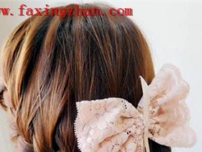 韩式流行麻花辫盘发发型教程