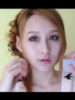 发型设计视频:女生简单甜美扎发教程