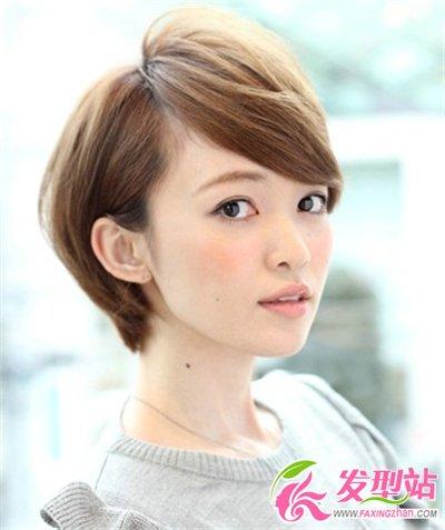 大脸的女生适合什么短发发型胖脸女生的最佳瘦脸发型 发型脸型 图片