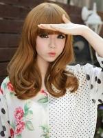 女生清纯时尚染发发型 花样美少女钟情的棕色系发型-板栗色头发 栗色图片