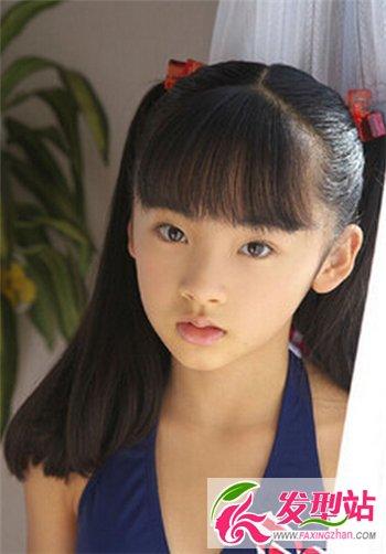 2014最时尚发型_中长发小女孩可爱扎发发型 儿童也有时尚卖萌的一面-儿童发型 ...