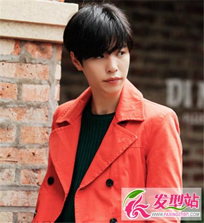 韩国个性男士斜刘海男发 为你的时尚加分