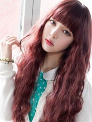 时尚吸睛酒红色染发发型 流行发色演绎最潮女郎