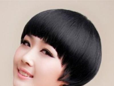 女生清爽短发蘑菇头 打造气质小清新短发美女