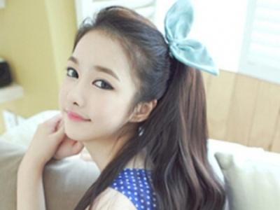 学生妹无刘海发型 清纯美丽最可爱