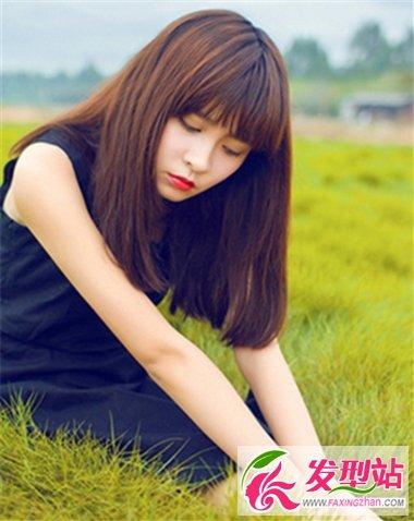 长脸女生适合什么刘海发型 齐刘海设计修颜显甜美