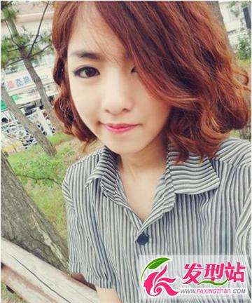 三七分刘海三七分露额分发发型 修颜瘦脸给颜值加分的发型