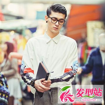 2015最新时尚男生偏分发型 帅气儒雅绅士