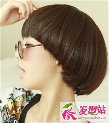 女生可爱锅盖头西瓜太郎发型 俏皮可爱倍显个性的短发