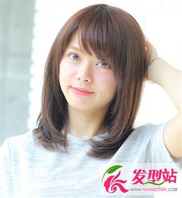 国字脸女生适合的发型设计 刘海发型清新修颜还百搭