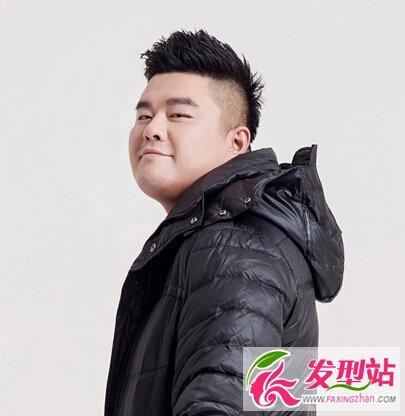 圆脸胖脸男生显瘦短发 圆脸也能变帅气型男的发型