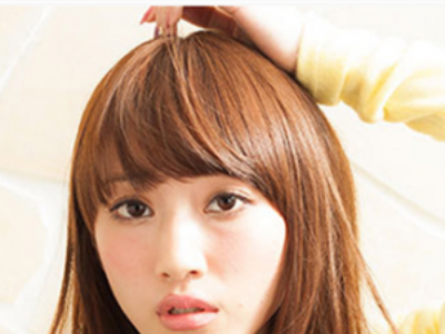 齐刘海长卷发发型 清新自然甜美可爱