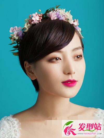 2016新娘短发发型图片大全
