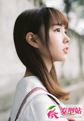 日本小学女生_小清新学院风女生发型 中小学生流行发型扎发图片-最新发型 ...