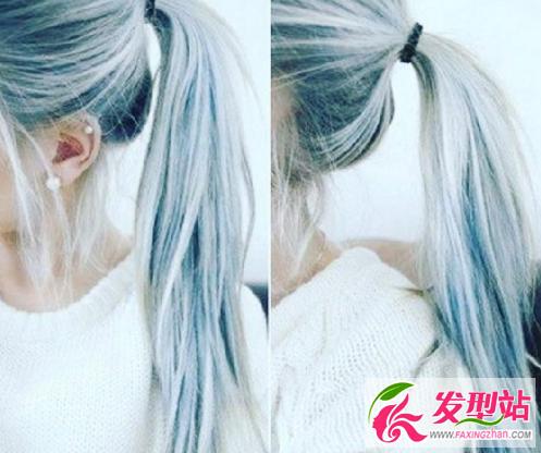 丹宁蓝or玫瑰金 外国人流行发色发型图片