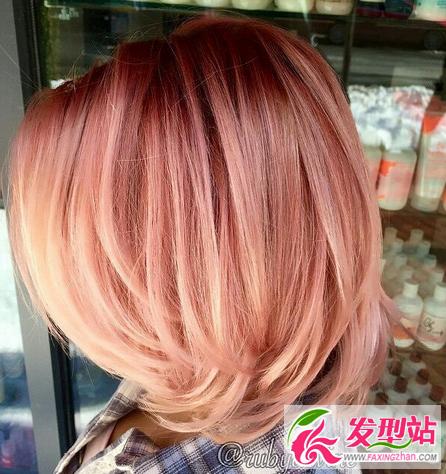 姬胡桃染发发型图片 粉色系染发发型图片大全 染发发型 发型站 最新流行发型设计发型图片与美发造型门户网