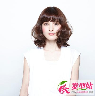 女生短发发型图片 韩范波波头lob发型大全