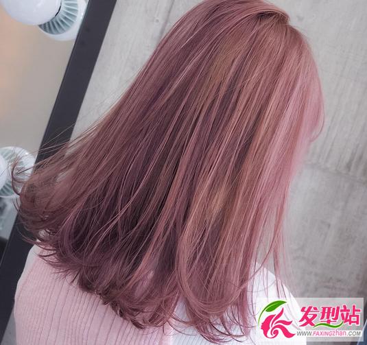 粉色,玫红,酒红,玫瑰金,染发图片