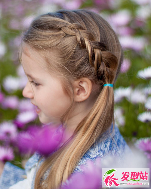 儿童编发图片大全 15款公主头编发盘发扎发-儿童发型