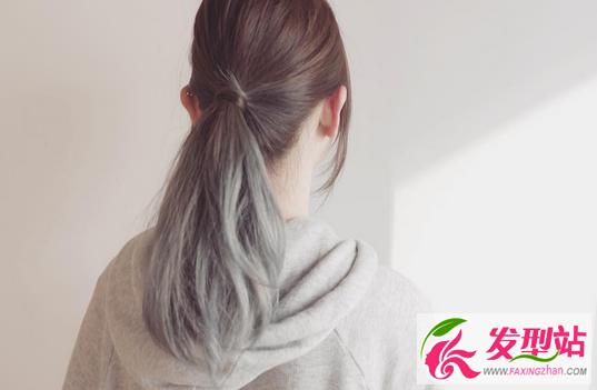 青木亚麻灰染发 灰色系染发发型图片大全图片