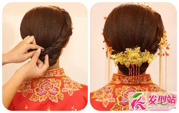 新娘发型详细步骤_新娘发型详细步骤 浪漫中式新娘盘发-发型DIY-发型站_最新流行 ...
