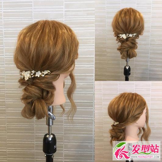 新娘发型图解教程 简单韩式新娘编发盘发步骤-新娘发型-发型站_最新图片