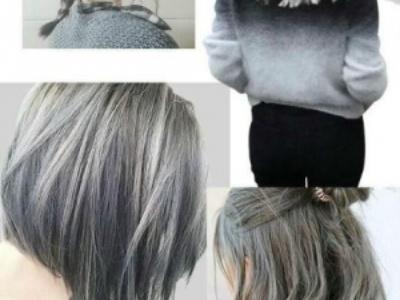 女生灰色系染发图片 除了奶奶灰这些灰色发色一样很流行