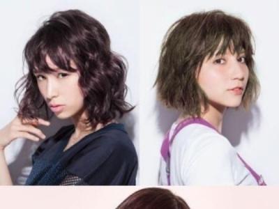 短发发型图片2017女 仙气发色X波浪lob头成亮点