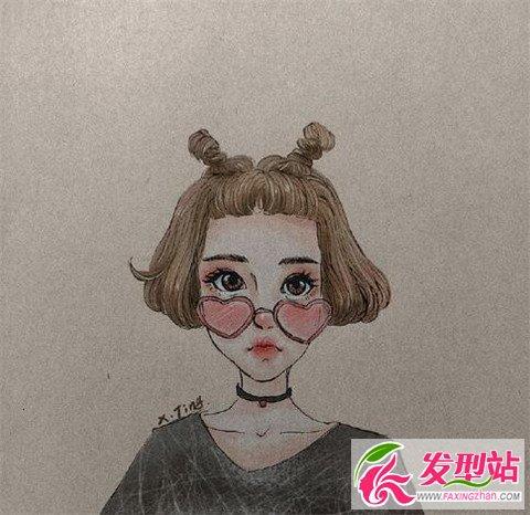 卡通版女生短发