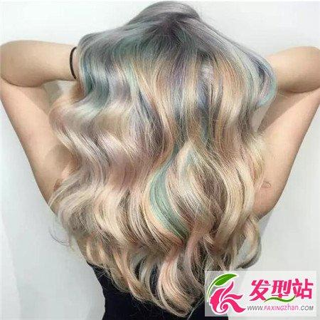 多彩混染发色