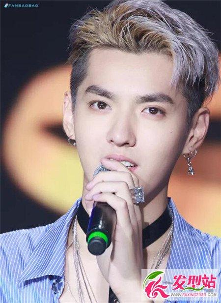 吴亦凡换了这款铲青的烫发刘海发型之后,美男的样子更是深入人心.图片