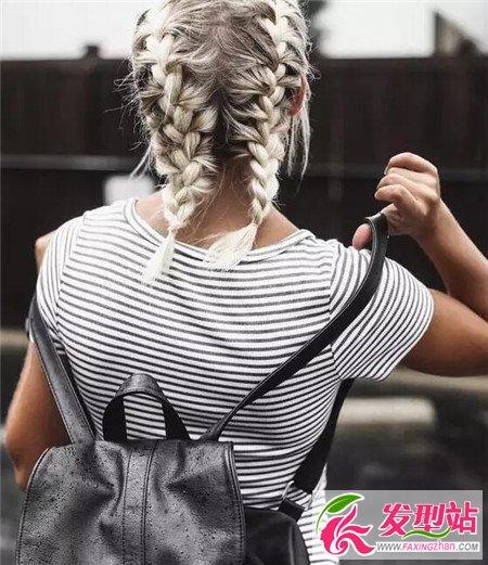 中短发这样编好美 中短发编发图片 短发发型 发型站 最新流行发型设计发型图片与美发造型门户网