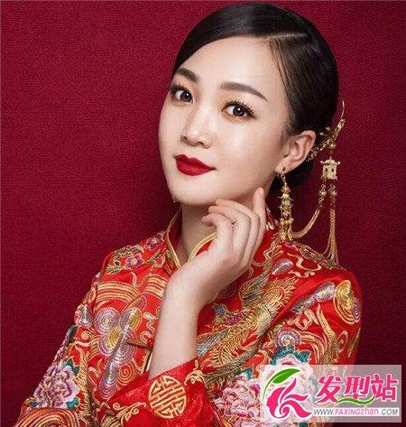 传统中式新娘发型