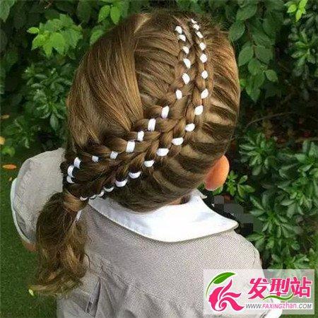 儿童编发发型扎法