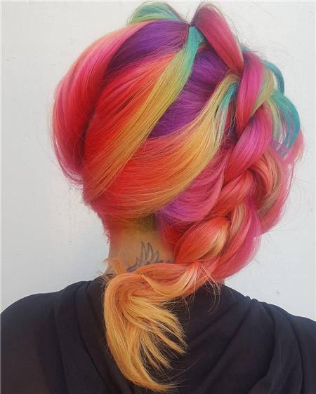 彩霞橙染发发色