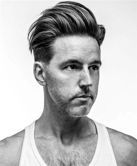 拉莫斯一道杠发型_欧美男士发型大全 一道杠莫西干油背头-时尚男发-发型站_最新 ...