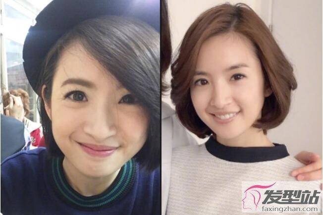 30岁女人短发减龄发型圆脸图片