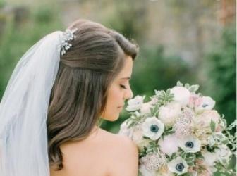 新娘半扎公主头发型 梳最美发型做最美新娘