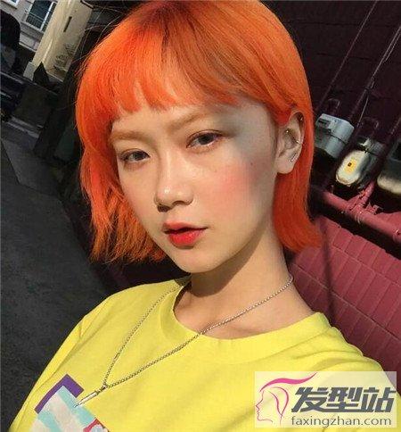 染发什么颜色显皮肤白 橘红色染发打造减龄少女颜-轻博客