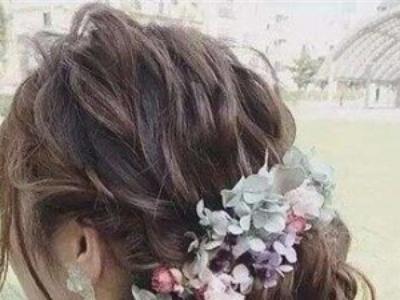 盘发怎么扎好看又简单 干花盘发如春天般浪漫