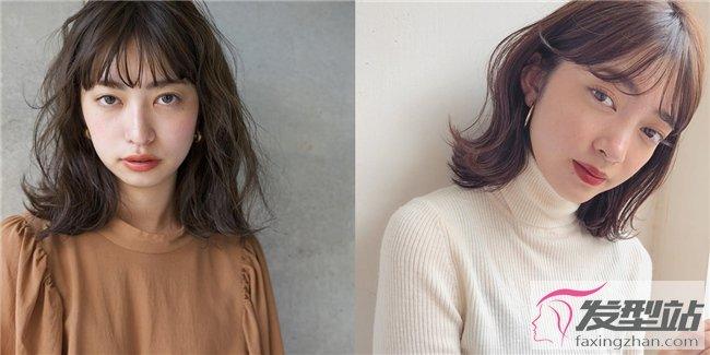 2019减龄发型中长发图片