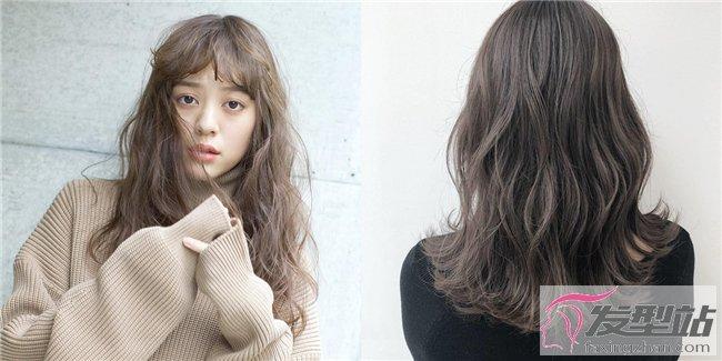 中分发型女中长发直发图片